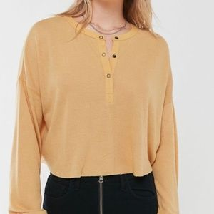 OUT FROM UNDER Yellow Emmy Henley Top